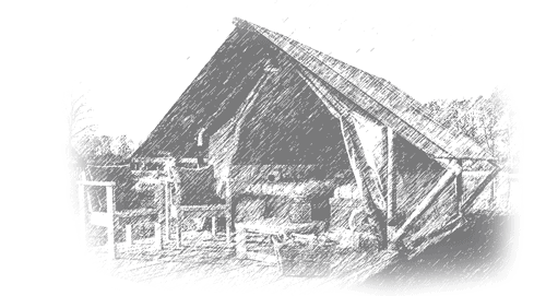 Drawing of a glamping tent