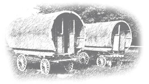 drawing of a glamping wagon