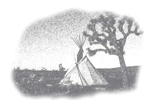 drawing of a glamping tipi
