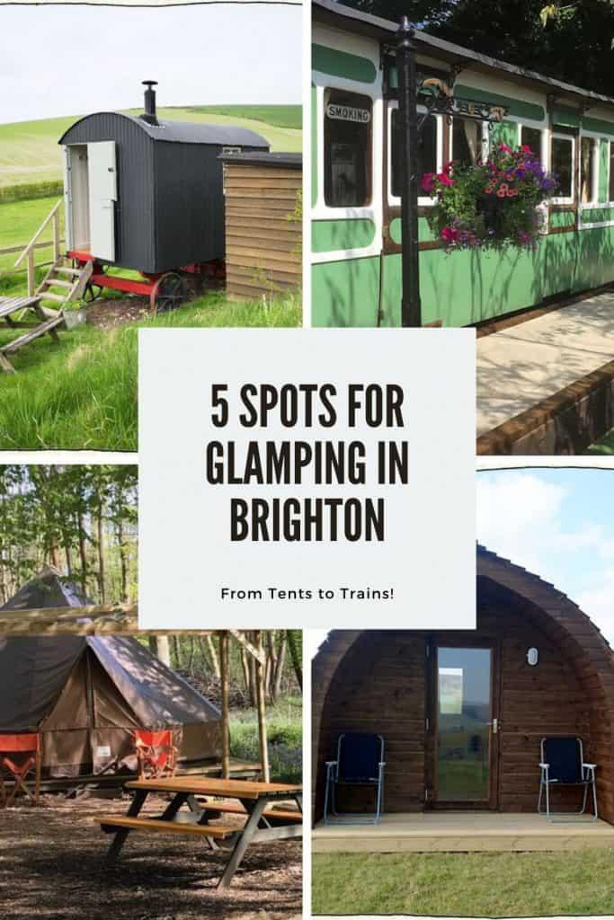 5 spots for glamping in brighton