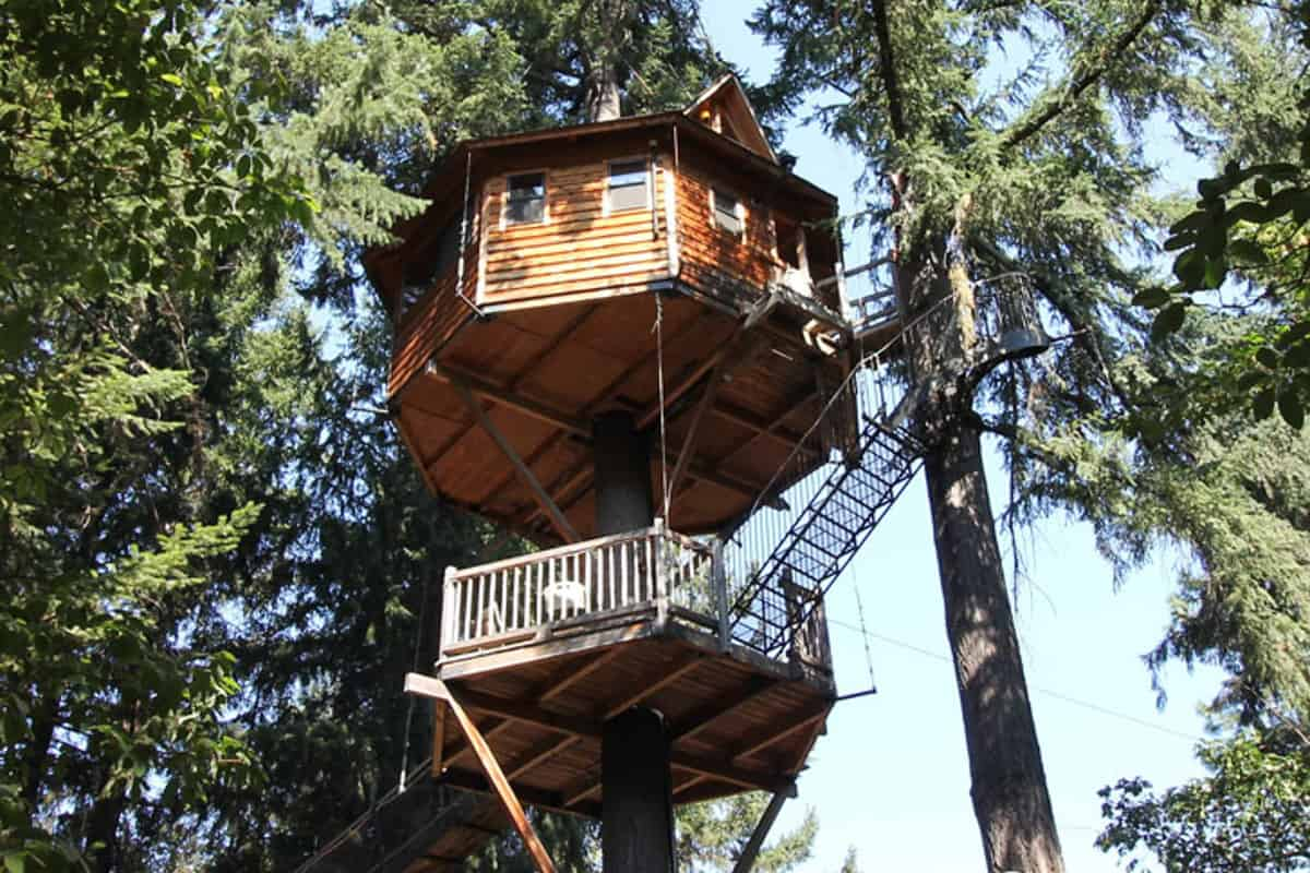 Majestree Treehouse Glamping in Oregon