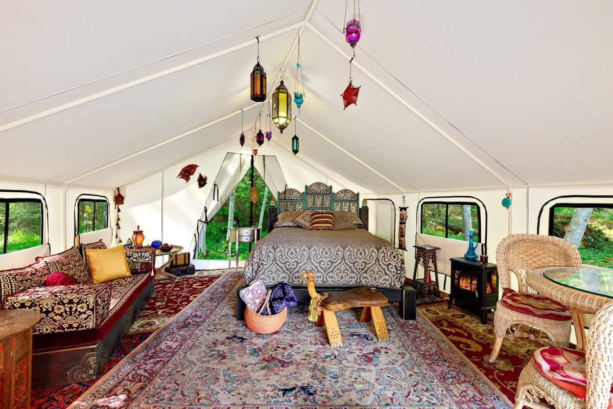 Moroccan Themed Glamping Tent