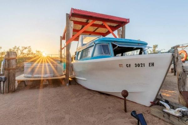JTLYC Set-Sail. Stargazing Pool Deck Tiki Fun view of boat and hot tub wat sunset