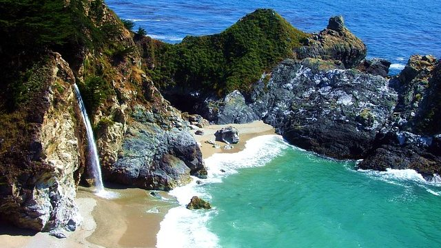mcway falls big sur view of falls and beach