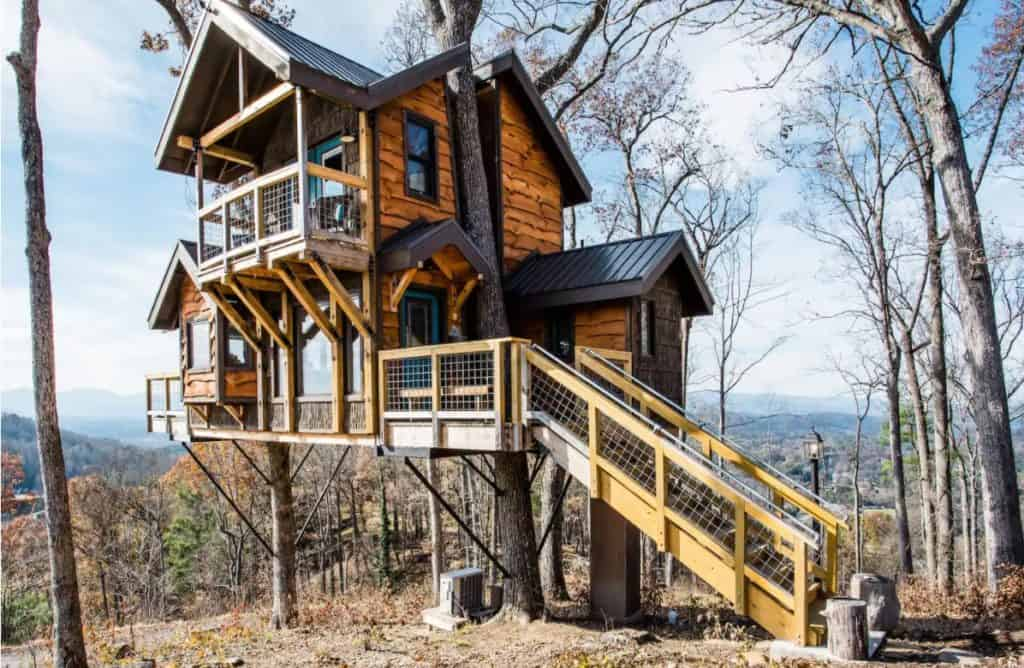 Asheville Treehouses of Serenity view of The sanctuary