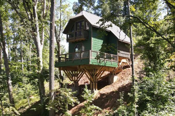 Asheville Treehouses of Serenity view of The Aerie