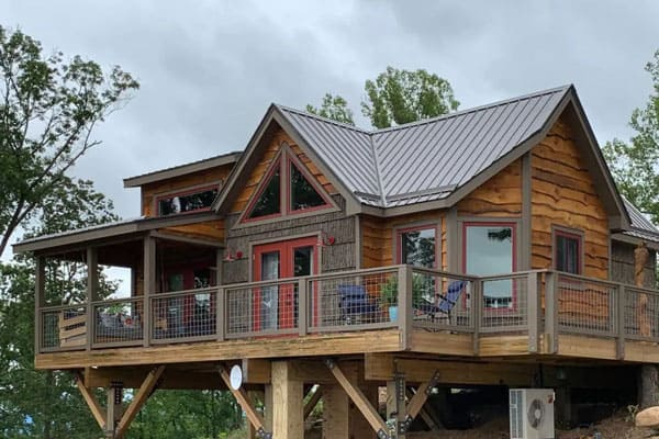 Asheville Treehouses of Serenity view of the perch