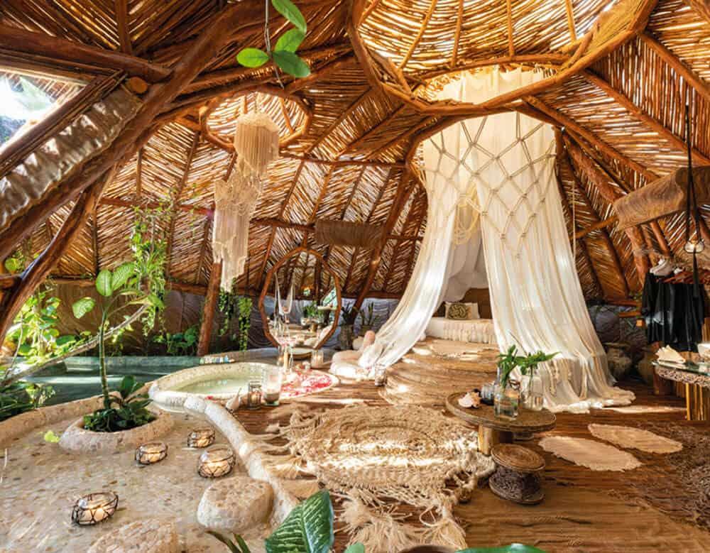room at Azulik Tulum glamping