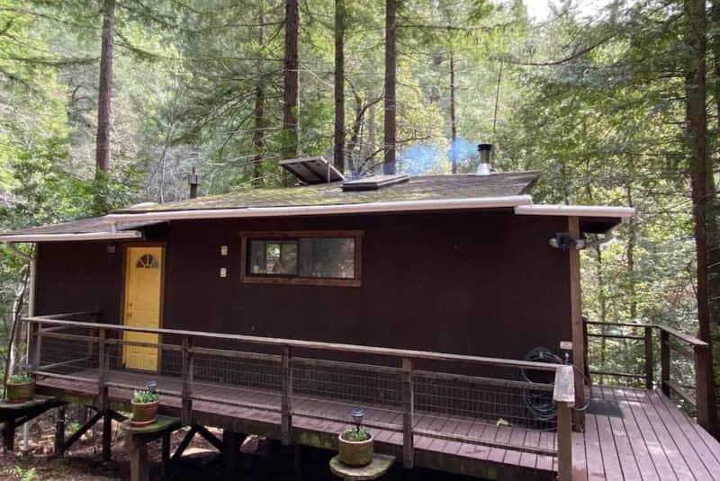 Old train car turned cabin
