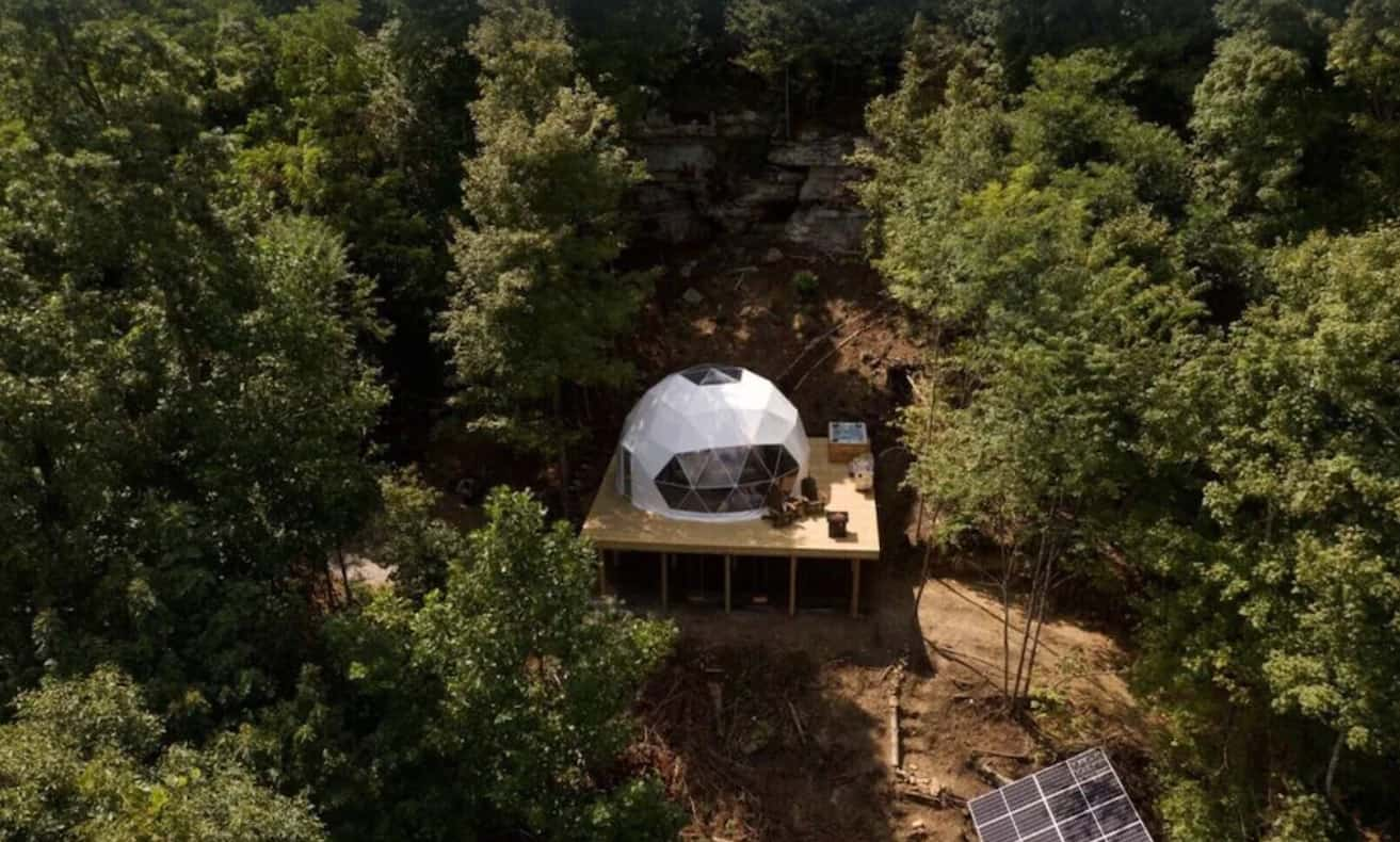 Tennessee glamping Geodesic Dome