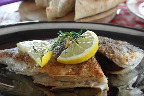Arkansas pan fried bream with lemon