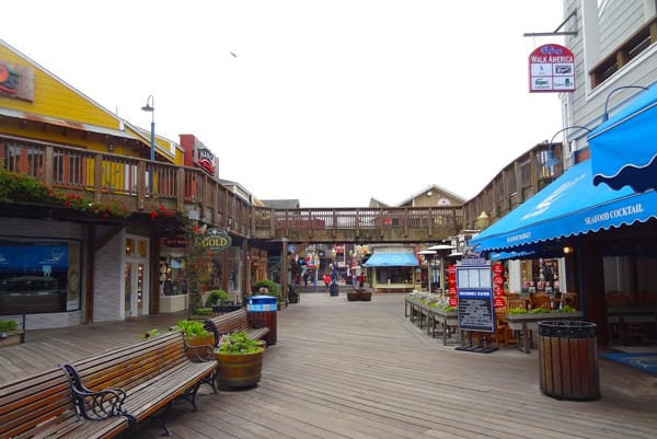 pier 39 view of the boardwalk with stores
