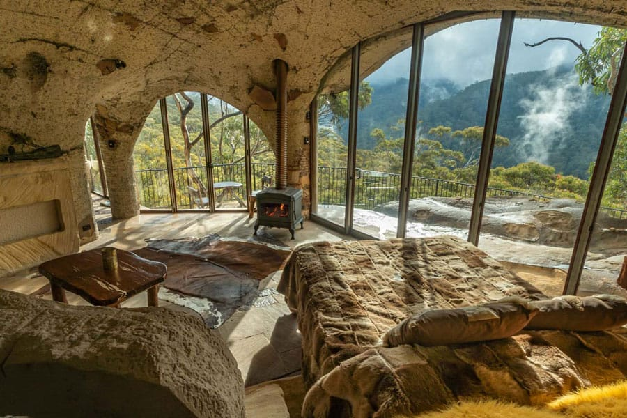 The Enchanted Cave From Love Cabins with views for eco camping