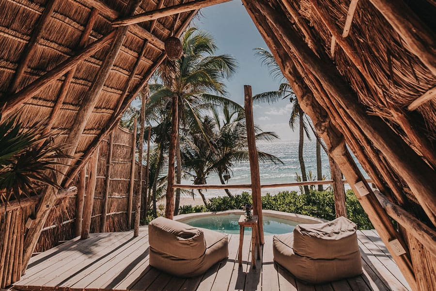 Luxury Eco Camping in Mexico on the beach