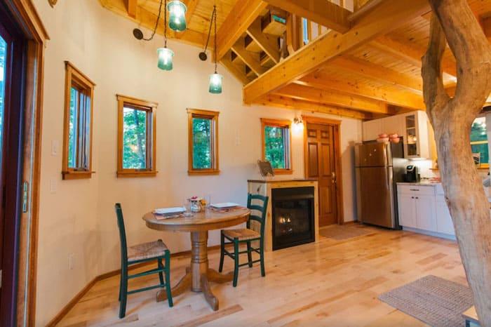Luxury Asheville Treehouse Castle inside